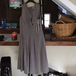 Calvin Klein gray pleated dress size 4